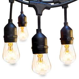 addlon 48 FT Outdoor String Lights Commercial Great Weatherp