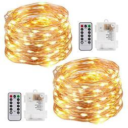 Kohree String Lights LED Copper Wire Fairy Christmas Tree Li
