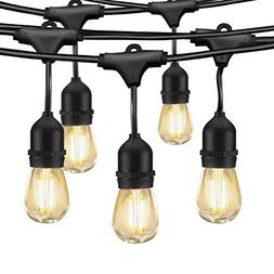 LED Outdoor String Lights, Edison Bulb String Lights, 49ft C