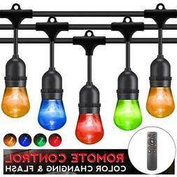 Outdoor String Lights LED Patio RGB Color Changing String Li