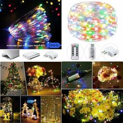 String Lights USB Twinkle Fairy W Remote Adapter 40Ft 120 LE