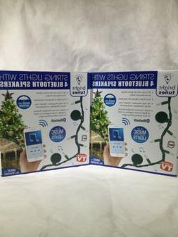Bright Tunes LED String Lights w/ 4 Bluetooth Speakers  Warm