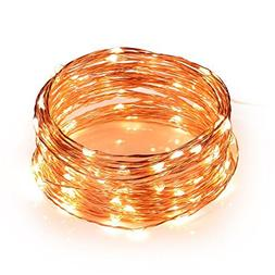 Toplus LED String Lights, Waterproof Fairy String Lights 100