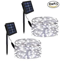 Solarmks Outdoor String Lights, Solar String Lights 100 LED