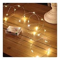 Sanniu Led String Lights, Mini Battery Powered Copper Wire S