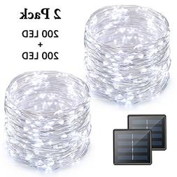 Vmanoo LED String Lights, 72 Feet 200 LED Solar Powered Copp
