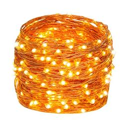 Weico LED String Lights, 66ft 200LEDs Waterproof Copper Wire