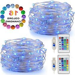 LED String Lights, 2 Set Multi Color Changing Fairy Lights U