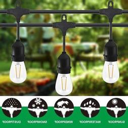 Classyke 48ft LED Outdoor String Lights for Patio Garden Yar