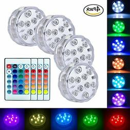 Submersible Led Lights Battery Operated Spot Lights With Rem