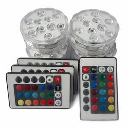Submersible LED Lights with Remote Battery Powered,TRIPOP RG