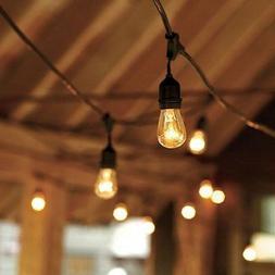 SLZ SUNTHIN 48ft String Lights with 24 x E26 Dropped Sockets