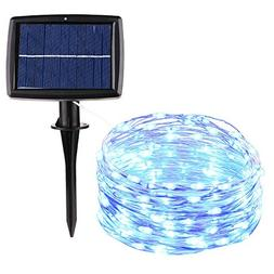 Icicle SUPER BRIGHT Solar String Lights, 26ft 120 LED Waterp