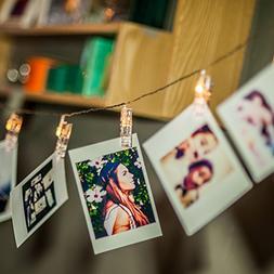 LED Photo Clip String Lights, Amazlab T2C Christmas Wedding