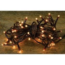 Teeny Tiny Rice Light String Brown Cord -- 20 Count