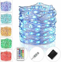 Fairy Lights Plug In String For Bedroom Color Changing USB L