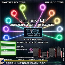 Thicker Neon LED Light Glow EL Wire + Control String Strip R