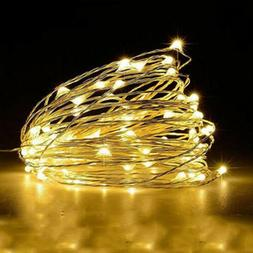 Timer LED Silver Fairy String Christmas Lights Outdoor 10M 1