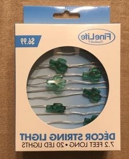 Tiny Cactus String Fairy Lights - 20 Total 7 ft - Battery -