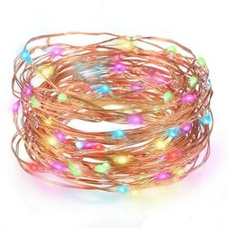 Tomshine 33 Ft 100LEDs Copper Wire Lights Waterproof Starry