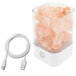 Touch USB Natural Himalayan Crystal Salt LED Lamp Night Ligh