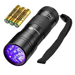 TaoTronics Black Light, 12 LEDs 395nm UV Blacklight Flashlig