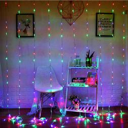 Twinkle 300Led Window Curtain String Lights for Wedding Part