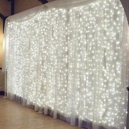 Ucharge Indoor String Lights Curtain Icicle 8 settings, Fair