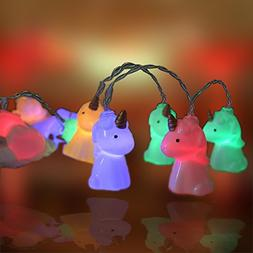 Unicorn String Lights Led Battery Operated Ornament Copper W