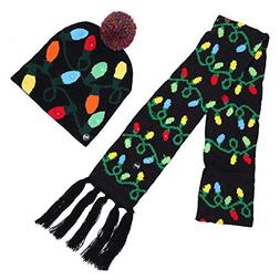 unisex christmas halloween led lights knitted hat