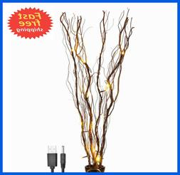 Lightshare Upgraded 36Inch 16LED Natural Willow Twig Lighted