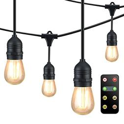 Mpow Upgraded 49Ft LED Outdoor String Lights, Ambiance Adjus