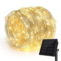 Rophie 200 LEDs Solar String Lights 72 foot/22meter String