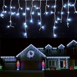 US 1~7pcs Fairy LED Hanging Icicle Snowing Curtain String Li
