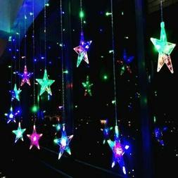 US 3.5M 96 LED Xmas Star Shaped String Lights Wedding Christ
