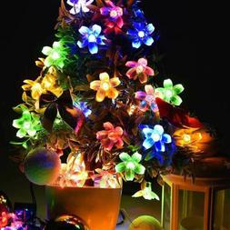 US 50 LED Blossom Flower Solar Fairy String Lights Outdoor G