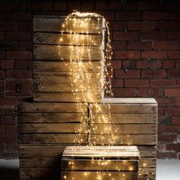 Waterfall LED Window Curtain Lights String Fairy Light Weddi