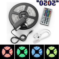 US Stock 5M 5050 LED Strip Light RGB SMD Tape Ribbon Lamp St