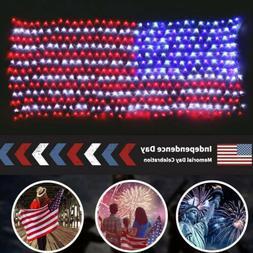 USA Flag Net Light 390LEDs Large String Lamps Hanging Garden
