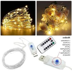 USB 5M-10M 50-100leds String Fairy Twinkle Lights with Remot