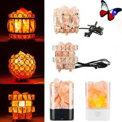 USB Himalayan Crystal Salt Lamp Air Purifier LED Night Light