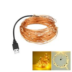 USB Plug In 100 LED DIY Micro Copper Wire String Lights Part