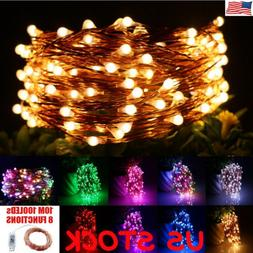 USB Plug In 10M 100 LEDs Fairy String Micro Copper Wire Ligh