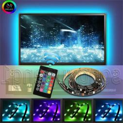 USB Powered RGB Colour Change 5050 LED Strip Computer TV USB