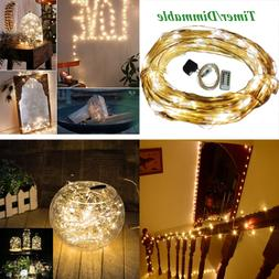 USB String Lights Version Dimmable & Timer 5V 50Ft 150 Leds