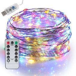 USB Twinkle LED String Fairy Lights 5/10M 50/100LEDs Copper
