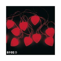 "VALENTINE HEART String Lights 8ft Strands 2"" HEARTS NEW HOME"