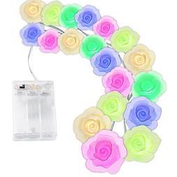 Qedertek Valentines String Lights, 10.4ft 20 LED Color Chang