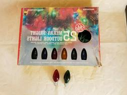 Vintage GE Multicolor Merry Bright 25 Bulb Light Set w/spare