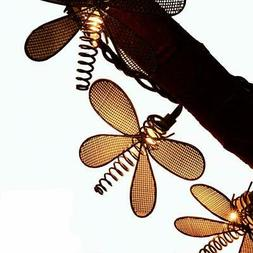 LIDORE 10 Vintage Style New Metal Dragonfly String Lights Id